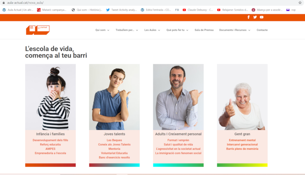 Estrenem web: som l'Escola de Vida dels barris